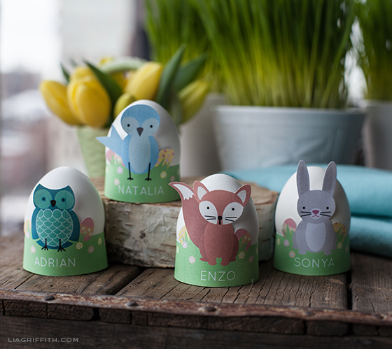 Easter Craft Ideas: Printable Egg Holders