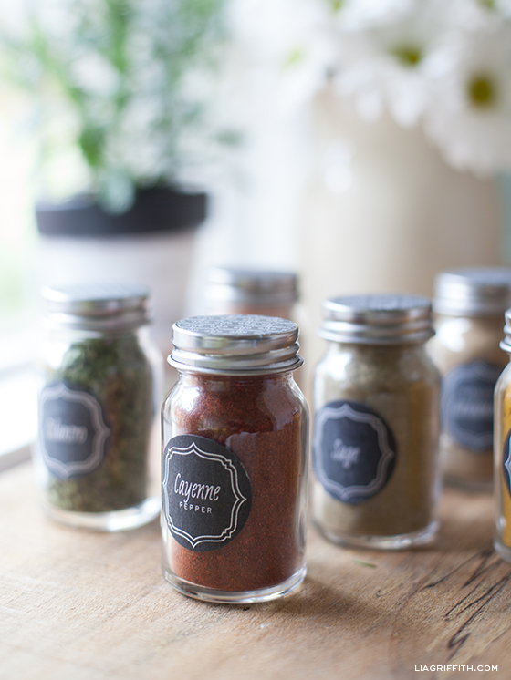 Chalkboard Spice Bottle Labels