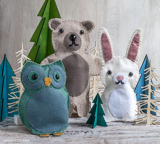 Felt Puppets Woodland Animals
