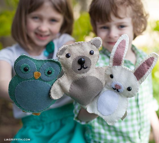 Woodland Animal Felt Puppets