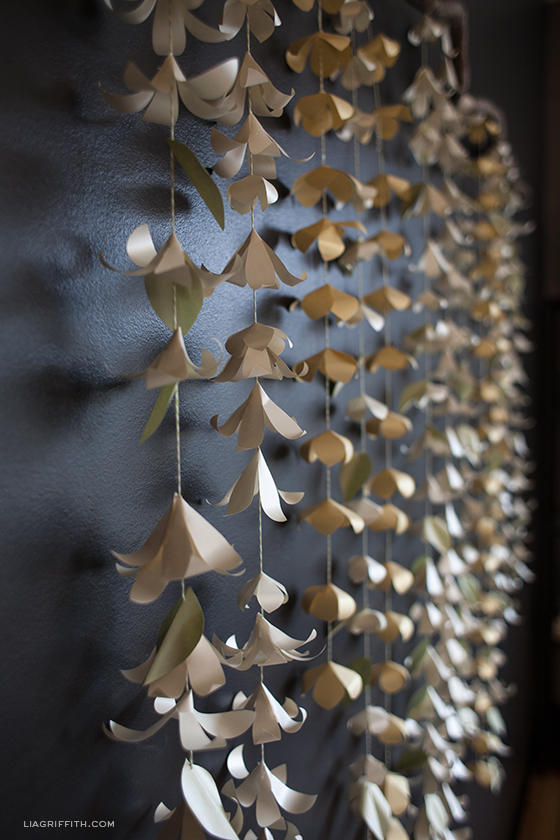 DIY Cascading Paper Flower Garland