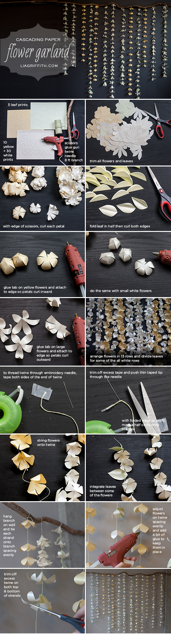 Cascading Paper Flower Garland Tutorial