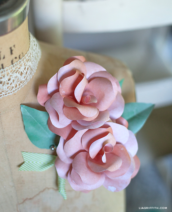 Paper Rose DIY Corsage and Boutonniere