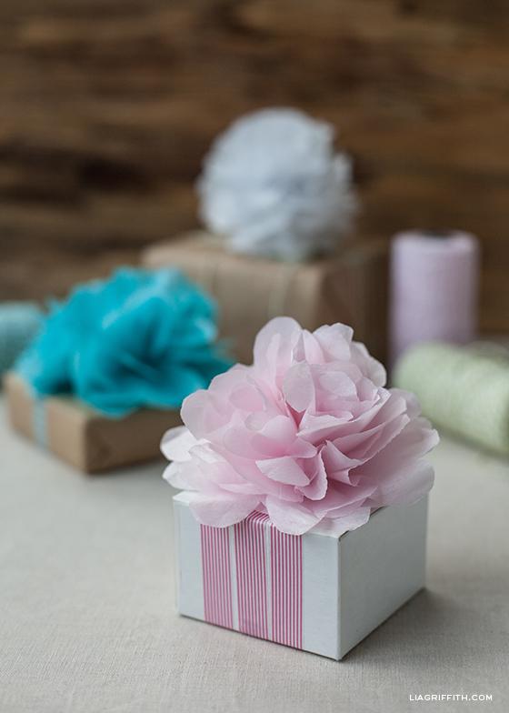 Pink Flower Pom Pom