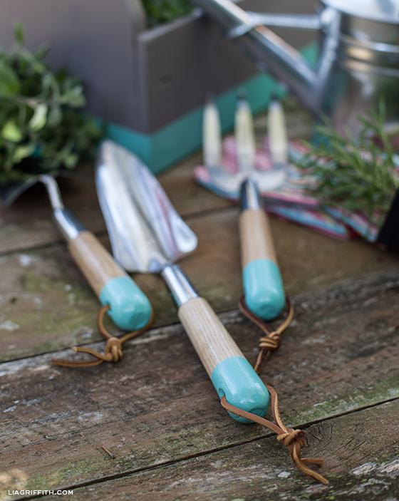 DIY Painted Garden Tools
