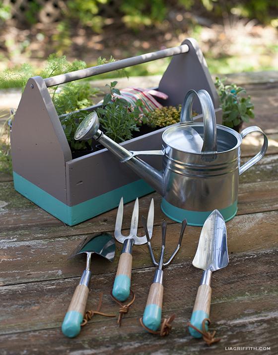 Dip Painted Garden Tools
