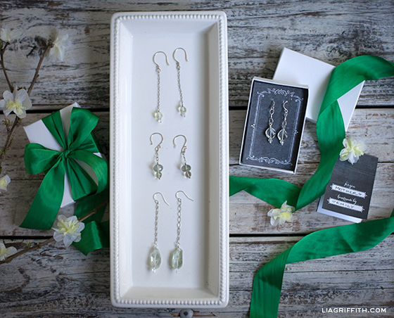 DIY Earrings and Place Card