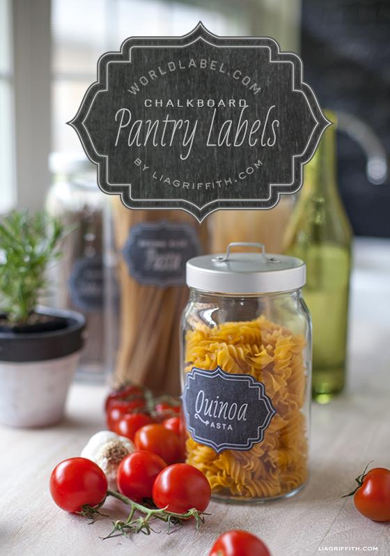 Chalkboard Printable Pantry Labels