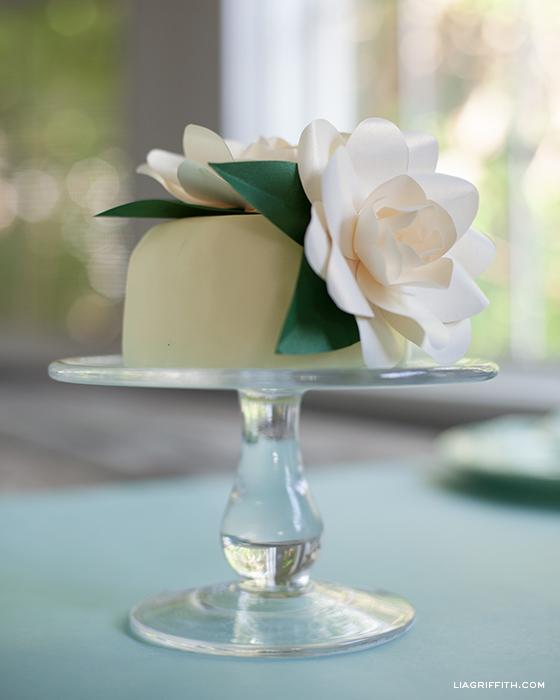Paper Gardenia Cake Topper