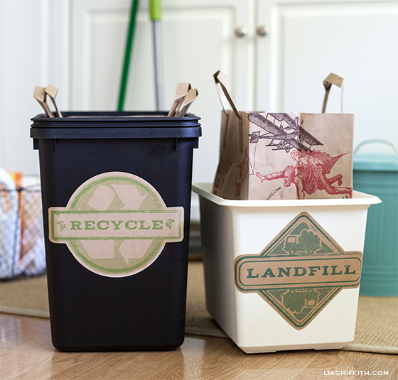Printable Trash Can Labels