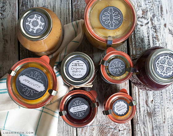 Printable Canning Lid Labels