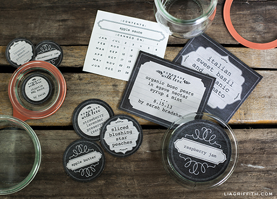 Editable Canning and Freezer Labels