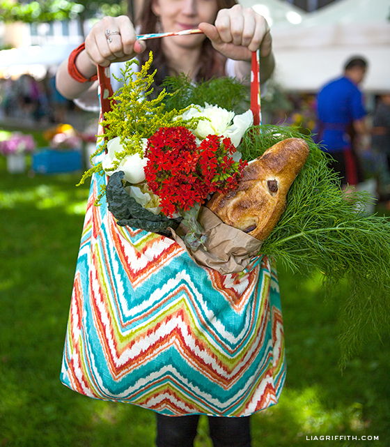 DIY Farmers Market Tote Bag