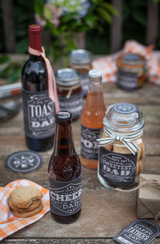 Fathers Day Beer Wine Labels