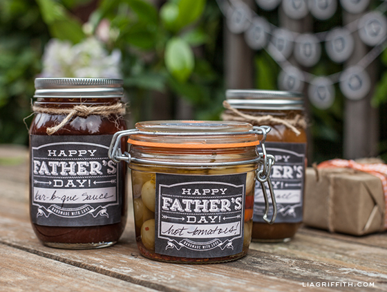 Printable Fathers Day Jar Labels