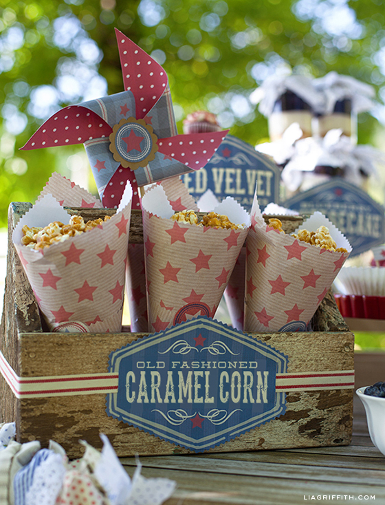 Fourth of July Caramel Corn