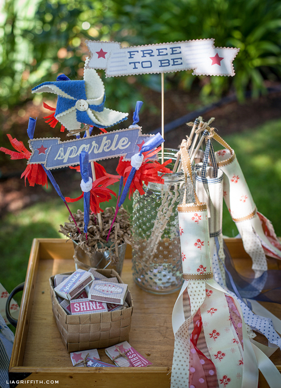Fourth of July Pinwheel Windsocks