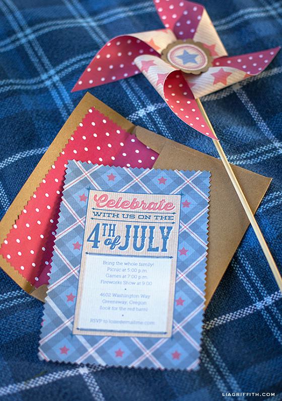 Vintage Fourth Of July Invitations