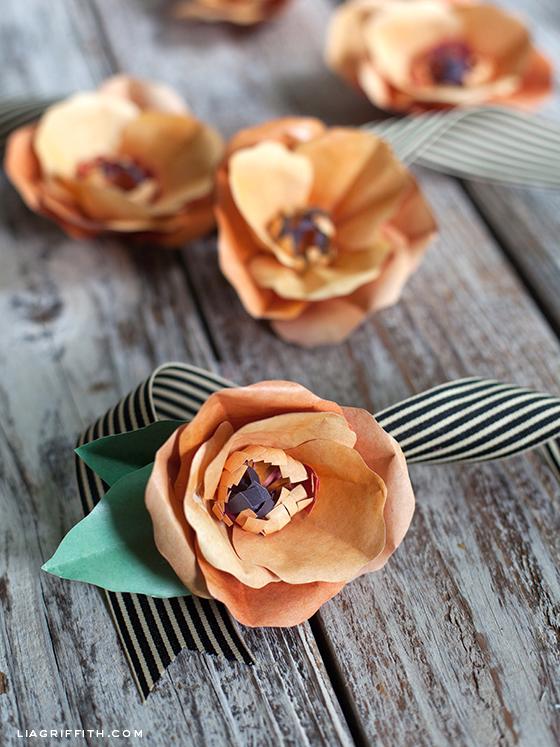 Orange Paper Poppies