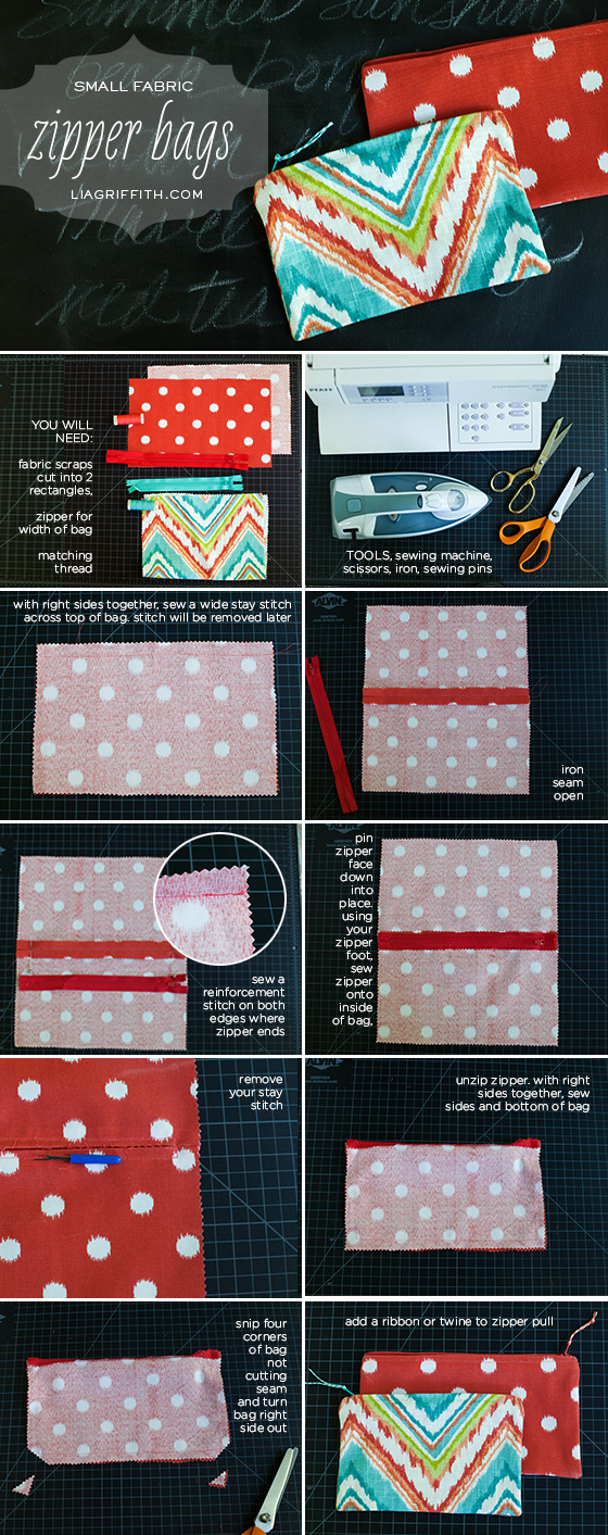 Small Zipper Bag Tutorial