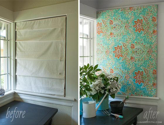 Before After Fabric Art