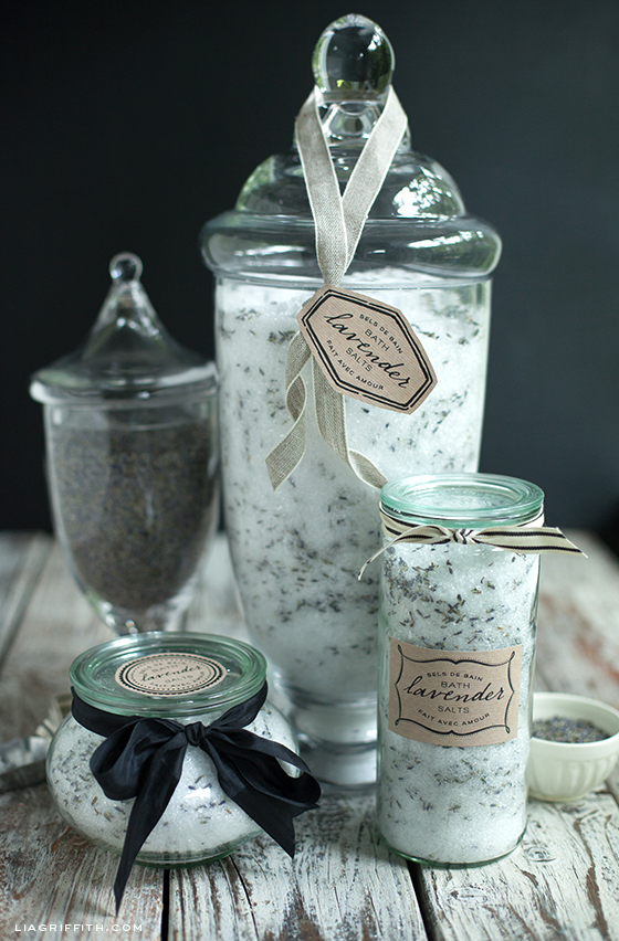 Printable Bath Salt Labels