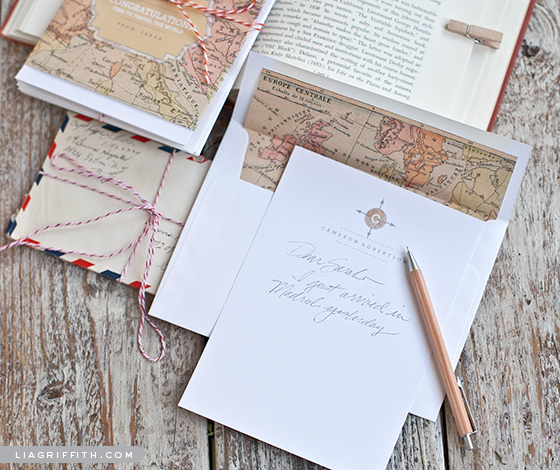 Vintage Map Note Cards