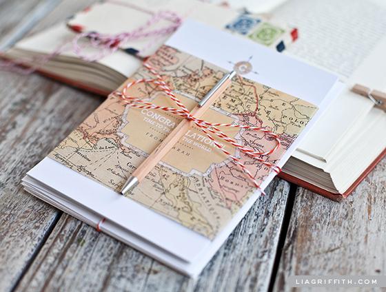 Vintage Map Stationery Gift