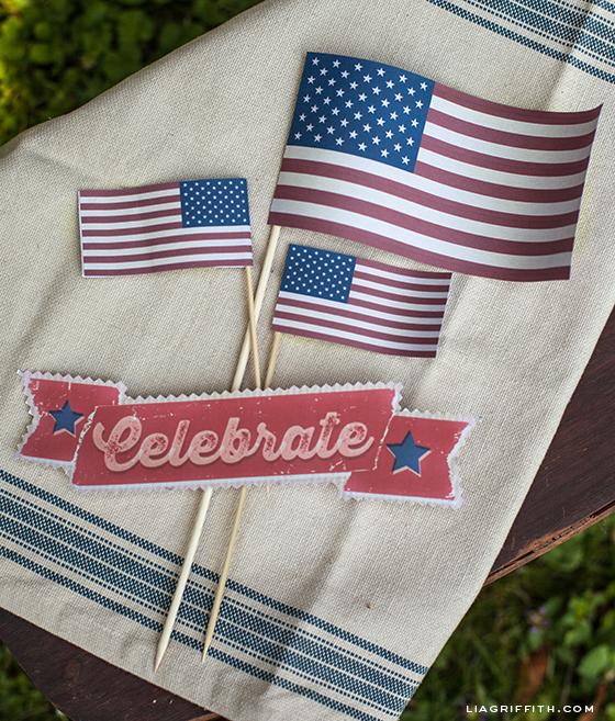 Vintage Printable Flags