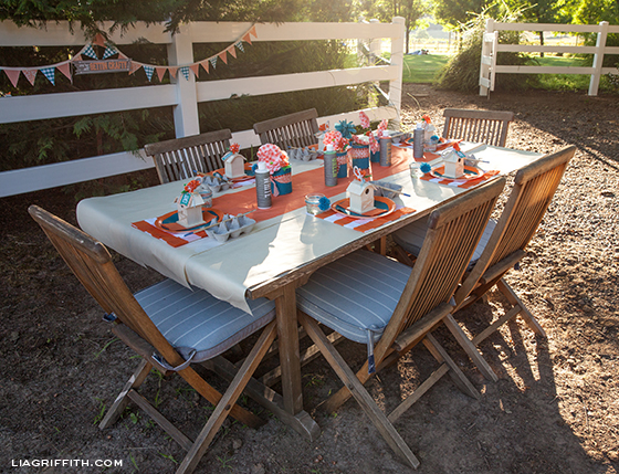 Farm Party Craft Table