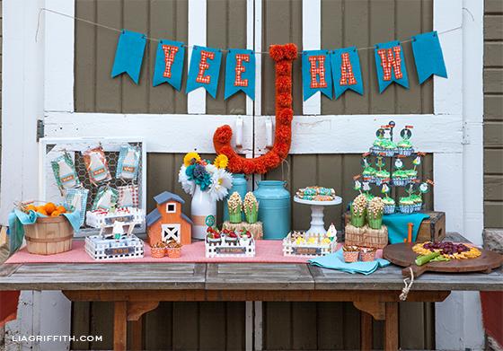 Farm Party Food Table Spread