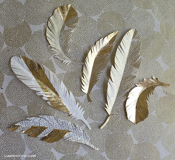 Paper Feathers Gold
