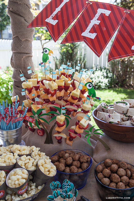 Pirate Party Fruit Skewers