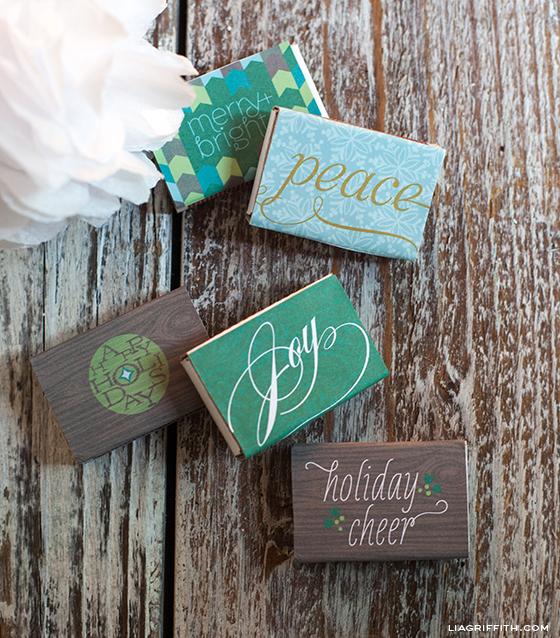 Christmas Matchbox Labels