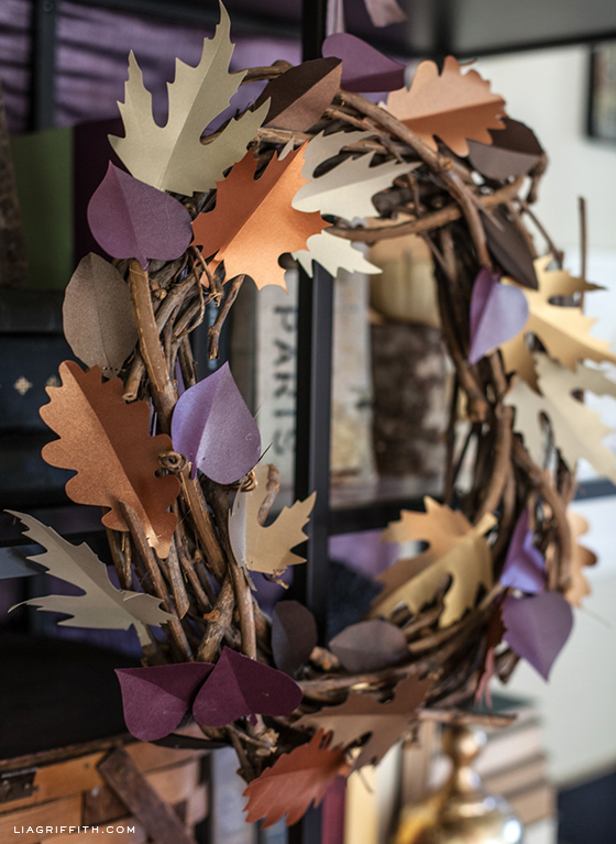 DIY Fall Paper Leaf Wreath