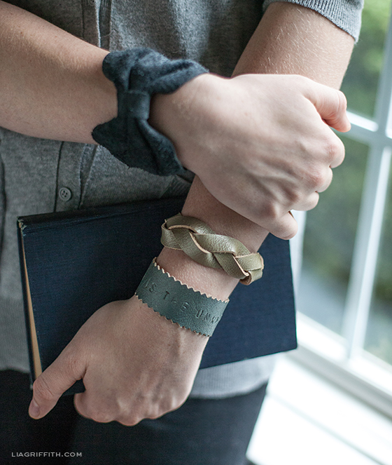 DIY Leather Bracelets