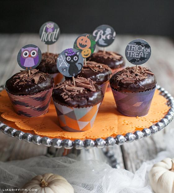Halloween Cupcake Wraps