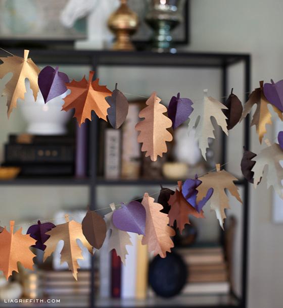 Leaf Garland DIY Paper