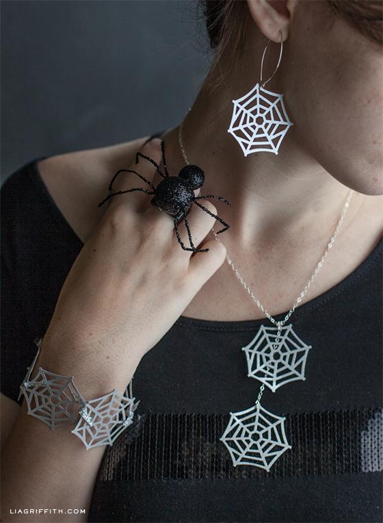 Martha Stewart Spider Web Jewelry