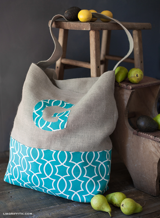 Monogrammed Jumbo Tote Bag