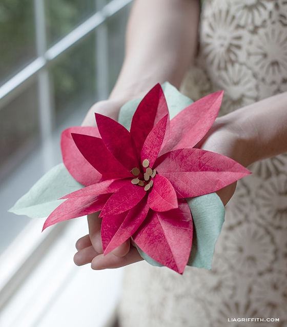 Red Paper Poinsettia