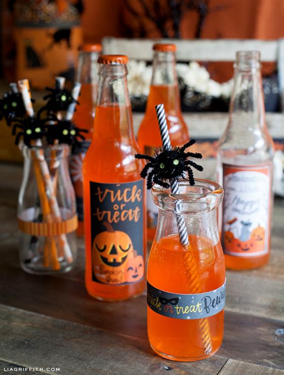 Soda Stickers Spider Straws