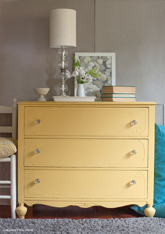 Yellow Chalk Paint Dresser