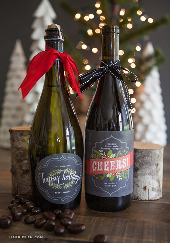 ChristmasWineLabels