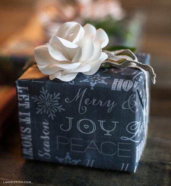 Chalkboard Gift Wrap Paper RoseTopper