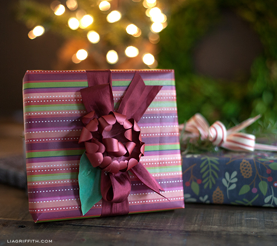 Christmas Stripe Gift Wrap Printable