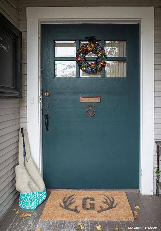 DIY Monogram Door Mat