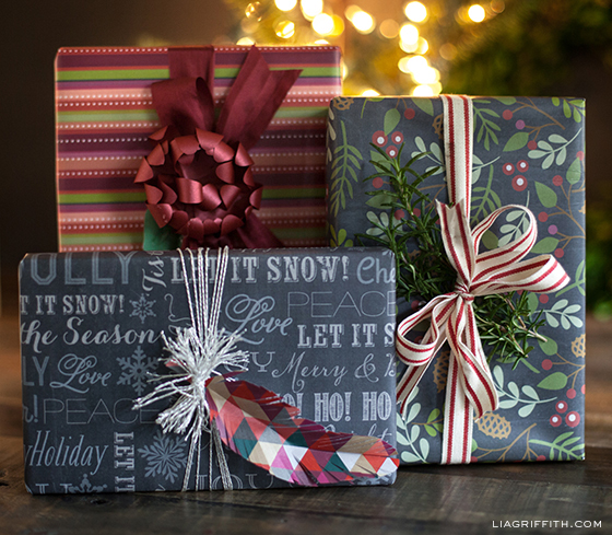 Free Chalkboard Gift Wrap Printable