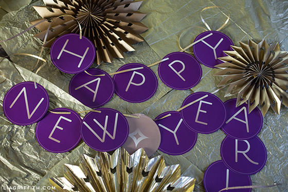 Happy New Year Banner Printable