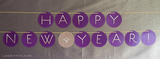 Printable New Year Banner